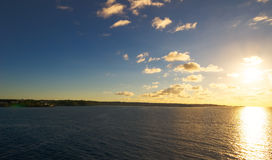 Soluppgång på Pointe àPitre - Guadeloupe Arkivbilder
