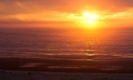 Soluppgång på port Alfred Arkivfoton