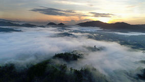 Soluppgång på Ranau Sabah Royaltyfria Bilder