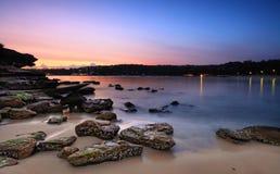 Soluppgång på Rocky Point Island Royaltyfri Bild