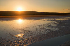 Soluppgång på Salt Lake - Turkiet Royaltyfri Bild