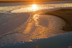 Soluppgång på Salt Lake - Turkiet Royaltyfri Fotografi