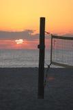 Soluppgång på strand Royaltyfria Foton