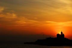Soluppgång på vagga Royaltyfri Fotografi