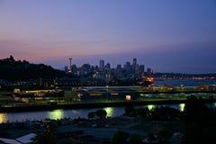 Soluppgång Seattle Arkivfoto