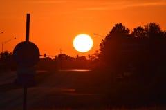 Soluppgång/solnedgång Fotografering för Bildbyråer