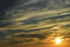 Soluppgång/solnedgång Arkivbild