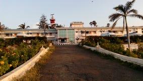 Soluppgång solnedgång, uddecomorin, Kanyakumari, Tamilnadu Arkivfoto