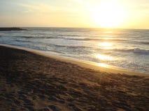 Soluppgång som sett av mig fotografering för bildbyråer