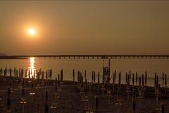 Soluppgång till det Gargano havet Royaltyfri Bild