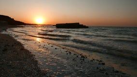 Soluppgång vid havet, seascape stock video