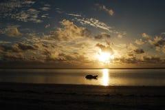 soluppgång zanzibar Royaltyfria Bilder