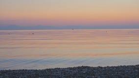Soluppgångbakgrund på havet lager videofilmer