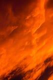 Soluppgångbrand Arkivfoton
