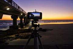 Soluppgångfotografi Fotografering för Bildbyråer
