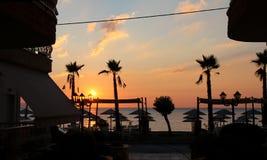 Soluppgånghöstsäsong - Vrasna, Grekland Royaltyfri Foto