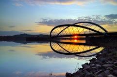 Soluppgånglandskap Fotografering för Bildbyråer
