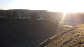 Soluppgånglandskap Arkivfoto
