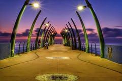 Soluppgångpir Sydafrika Royaltyfria Foton