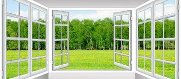 Soluppgångsikt från fönstret royaltyfri fotografi