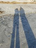 Soluppgångskuggor Royaltyfri Fotografi