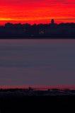 soluppgångsolnedgång Arkivbilder