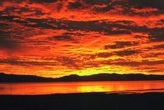 soluppgångtahoe Arkivfoto
