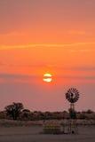 Soluppgångväderkvarn Royaltyfri Fotografi