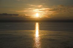 soluppgångvatten Royaltyfri Foto