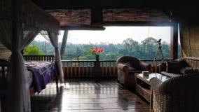 Soluppgångvilla, Ubud, Bali royaltyfri foto