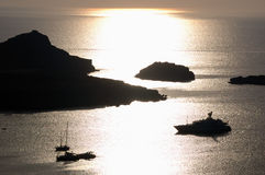 soluppgångyacht Royaltyfria Foton