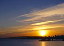Soluppgång av Röda havet Fotografering för Bildbyråer