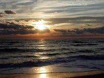 soluppgång för 6 hav Arkivfoton