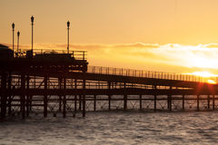 Soluppgång i Essex Arkivfoto