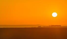 Soluppgång i södra Moravia Arkivbild