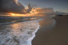 Soluppgång på Miami Beach Royaltyfria Foton