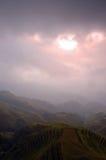 soluppgångar Arkivbild