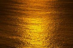 Soluppgångglöd av hav Arkivfoton