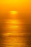 Soluppgångglöd av hav Fotografering för Bildbyråer