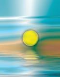 soluppgångvattenfärg Arkivfoton