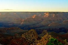 Soluppsättning i Grand Canyon Royaltyfri Foto