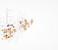 Solutio futuriste d'affaires d'informatique d'Internet de la Science photo stock