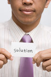 Solution image stock