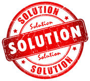 Solution. Business solution stamp isolated on  white Royalty Free Stock Photography