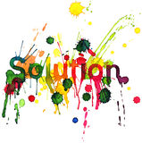 Solution. Text title (Ekv painting Stock Photography