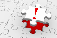 Solution. Last piece of a jigsaw puzzle falling into place - solution or answer concept Stock Images