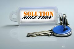 Solution Photographie stock