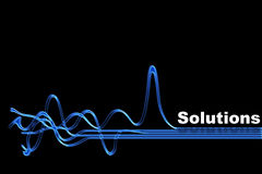 Solution illustration stock