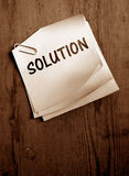 Solution. Word with Old paper Stock Images