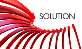 Solution arrow Stock Photos